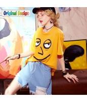 【Tシャツ】カットソー【五分袖】ゆったり【夏物】 yj8818-2