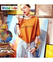【Tシャツ】カットソー【五分袖】ゆったり【文字入り】夏物 yj8822-1