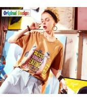 【Tシャツ】カットソー【半袖】ゆったり【可愛い】夏物 yj8823-2