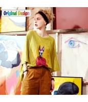 【Tシャツ】カットソー【七分袖】ゆったり【純綿100%コットン】夏物 yj8826-2