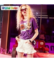 【Tシャツ】カットソー【半袖】ゆったり【ワッペン入り】春物 yj8827-2