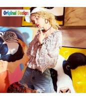 【ブラウス】長袖【ゆったり】花柄【シフォン】夏物 yj8841-2