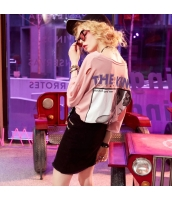 【Tシャツ】カットソー【半袖】ダメージ入り【桃色】ピンク【夏物】 yj8896-1