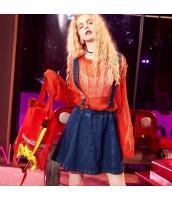 【デニムスカート】ジャンパースカート【紺】ネイビー【夏物】 yj8917-1