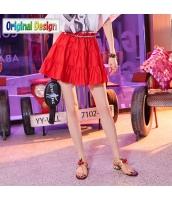 【フレアスカート】ミニスカート【赤】レッド【夏物】 yj8921-3