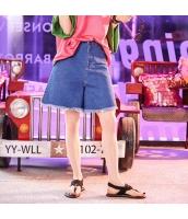 【ジーンズ・デニムパンツ】ショートパンツ・ホットパンツ【ゆったり】フリンジ裾【紺】ネイビー【夏物】 yj8927-2