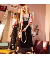 【ジャンパースカート】ゆったり【黒】ブラック【夏物】 yj8939-1