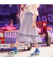 【フレアスカート】ロング・マキシスカート【青】ブルー【夏物】 yj8940-2