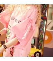 【膝上ワンピース】半袖【Aラインワンピース】ゆったり【桃色】ピンク【夏物】 yj8959-1