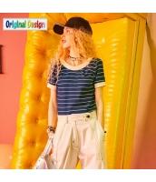 【Tシャツ】カットソー【半袖】ボーダー柄【夏物】紺【ネイビー】 yj8995-1