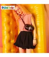 【ショートパンツ】ホットパンツ【ゆったり】フリル裾【夏物】黒【ブラック】 yj9000-1