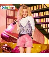 【ショートパンツ】ホットパンツ【ゆったり】夏物【桃色】ピンク yj9005-1