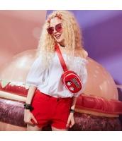 【ジーンズ・デニムパンツ】ショートパンツ・ホットパンツ【フリンジ裾】夏物【赤】レッド yj9006-1