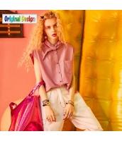 【シャツ】半袖【ゆったり】夏物【桃色】ピンク yj9012-2