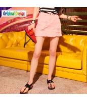 【デニムスカート】タイトスカート【ミニスカート】ダメージ入り【夏物】桃色【ピンク】 yj9019-1