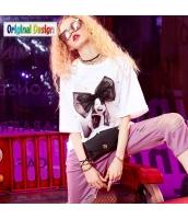 【Tシャツ】カットソー【半袖】ゆったり【夏物】白【ホワイト】 yj9024-1