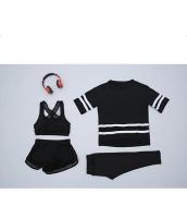 ヨガ フィットネス トレーニング Tシャツ+タンクトップ+長ズボン+ショートパンツ4点セット アンサンブル スポーツウェア ピラティス ジム ダンス ランニング シェイプアップ ダイエット yjk6229-6
