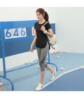 ヨガ フィットネス トレーニング Tシャツ+7分丈パンツ2点セット アンサンブル スポーツウェア ピラティス ジム ダンス ランニング シェイプアップ ダイエット zxm1753-3
