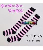 ソックス 靴下 ニーソックス ハイソックス ゴスロリ ロリータ ボーダー 普段使い&コスプレに最適 hw0111-10
