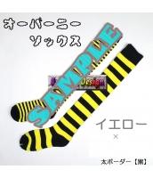 ソックス 靴下 ニーソックス ハイソックス ゴスロリ ロリータ ボーダー 普段使い&コスプレに最適 hw0111-2