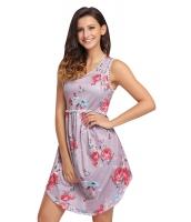 ピンク レース トリム 花柄 自由奔放 ドレス lc220077-10