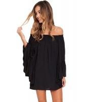 ブラック エーテル シフォン ミニ ドレス      cc22010-2