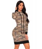 迷彩 フード付き 長袖 ドレス cc220114-22