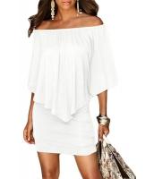 マルチ ドレス レイヤー ホワイト ミニドレス cc22820-1