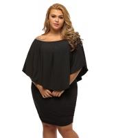 大きいサイズ マルチ ドレス レイヤー ブラック ミニドレス lc22820-2p