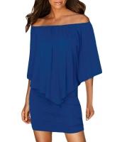 マルチ ドレス レイヤー ブルー ミニドレス cc22820-5