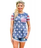 アメリカ ハート レディース 国旗 Tシャツ lc250187-4