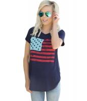 全アメリカ 国旗 Tシャツ ネイビー lc250188-5