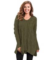 グリーン 大きいサイズ 快適 ニット セーター cc27681-9