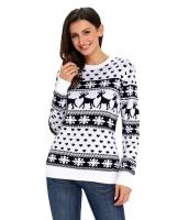 ブラック トナカイ & スノーフレーク ニット クリスマス セーター cc27693-2