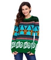 カートン トナカイ グリーン クリスマス セーター cc27694-9