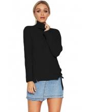 ブラック 長袖 タートルネック  セーター cc27705-2