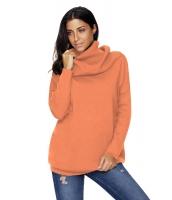 オレンジ 快適な カウルネック 長袖 セーター cc27731-14