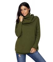グリーン 快適な カウルネック 長袖 セーター cc27731-9
