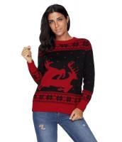 ブラック レッド トナカイ クリスマス ジャンパー cc27766-2