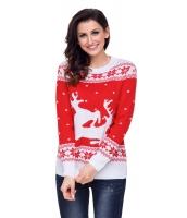 レッド ホワイト トナカイ クリスマス ジャンパー cc27766-3