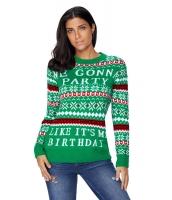 グリーン パーティー アグリー クリスマス セーター cc27777-9