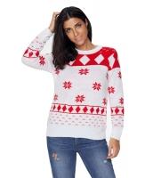 ホワイト 3D クリスマス セーター cc27787-1