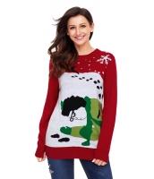 レッド トナカイ クリスマス セーター cc27810-3