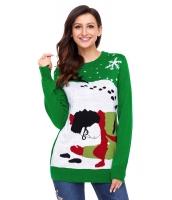 グリーン トナカイ クリスマス セーター cc27810-9
