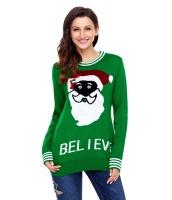 ブラック サンタ クリスマス セーター グリーン cc27812-9