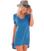 ダーク ブルー 半袖 Tシャツ カバーアップ cc42129-5