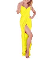 イエロー ギリシア 女神 スパゲッティ ストラップ サロン ビーチファッション cc42179-7