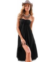 ブラック コンバーチブル ビーチドレス カバーアップ cc42229-2