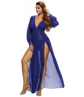きらめき ブルー スリット 女神 ドレス cc61198-5