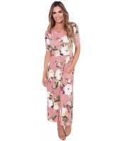 カジュアル デザインポケット ホワイト 花柄 ドレス cc61550-10